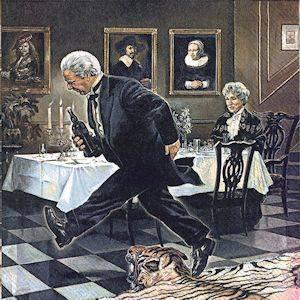 Bilde av Servietter lunsj Grevinnen og hovmesteren