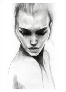 Bilde av Kunsttrykk Face 1 30x40 - Anna Bülow